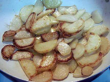 Recette de crevettes sur un lit de radis noir rissol avec - Cuisiner un radis noir ...