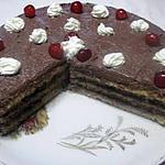 recette Gâteau à la  mousse de chocolat, sans cuisson .