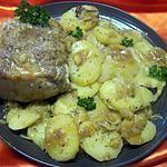 recette Rôti de porc à la boulangère.