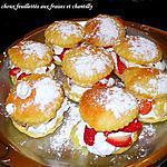 recette petits choux feuillettés aux fraises et chantilly