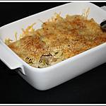 recette Gratin de macaronis aux champignons et poireau