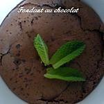 recette Fondant au chocolat minute