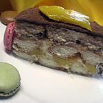 recette tiramisu à la mangue au mascarpone et macarons.