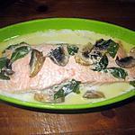 recette Saumon rose aux légumes.micro-ondes.
