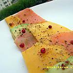 recette carpaccio tricolore (diététique)