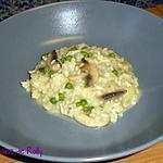 recette Risotto au brie, petits pois et champignons