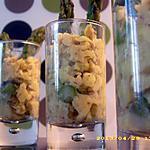 recette verrines d'oeufs brouillés aux asperges