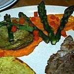 recette Flans d'Asperges Vertes au Coulis de Carottes