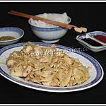 recette Sauté de chou et poulet à la chinoise