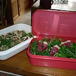 recette Mesclun aux champignons & petits pois