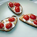 recette Crostini aux tomates cerises