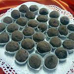 recette boulettes de truffe au chocolat.