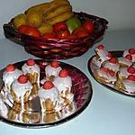recette Petits gateaux habillés nappage à la fraise Tagada ®