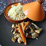 recette carottes POULET champignons  EXOTIQUE