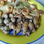 recette poisson aux crevettes et sépions