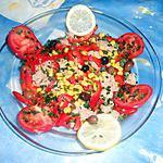 recette Salade thon,mais,poivron rouge