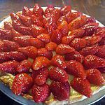 recette Tarte aux fraises à la crème pâtissière.
