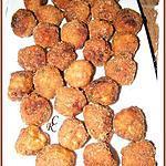 recette Boulettes de poulet-dinde à la cacahuète, enrobé de Curly