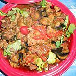 recette Tajine de collier d agneau aux poivrons et aubergines