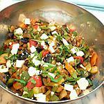 recette légumes grillés feta menthe