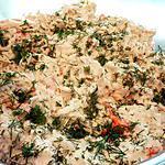 recette salade de poisson sole surimi