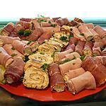recette anti pasti d'aubergine, saumon et omelette