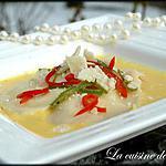 recette Raviolis de fromage et sa crème au poivron jaune