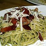 recette Linguines au Pesto, Noix et Jambon Croustillant