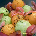 recette duo de billes aux jambon de parme