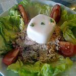 recette petite salade du soire et oeuf surprise??