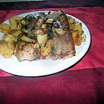 recette lard au barbecue  et    ses  légumes  poelés