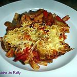 recette Gratin de pâtes au ketchup et légumes