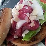 recette Burger au carpaccio de boeuf