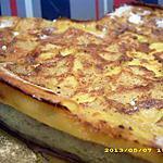 recette coeur de flan aux poires et aux pépites de chocolat