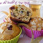 recette Muffins des Mille et Une Nuits (pistaches, dattes, amandes, miel, fleur d'oranger et orange)
