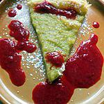 recette Tarte rhubarbe au coulis de framboise