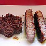 recette Thon mariné à la sauce Tandoori et riz rouge et fleurs d'oranger