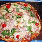 Pizza aux deux jambons et courgettes