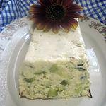 recette Terrine de courgettes au crabe et fromage de chèvre.