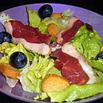 recette Salade d'aiguillettes de magret de canard fumé