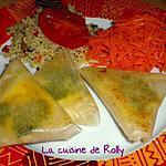 recette Samossas au kiri, coriandre et curry