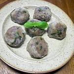 recette Boulettes de pommes de terre vitelotte aux basilic.