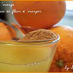 recette Jus d'orange à l'eau de fleur d'oranger