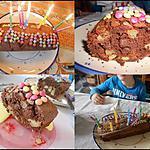 recette Cake chocolat, kiwis & pomme