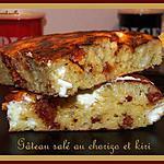 recette Gâteau salé au chorizo et kiri