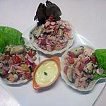 recette Coquilles de saumon et de  crustacés garnies.