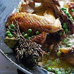 recette Fricassée de poulet à la crème de petits pois et whisky