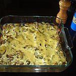 recette Gratin de champignons de Paris au jambon