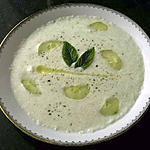 recette Délice velouté de concombre au yahourt