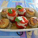 recette CHAMPIGNONS ET TOMATES FARCIES (recette végétarienne)